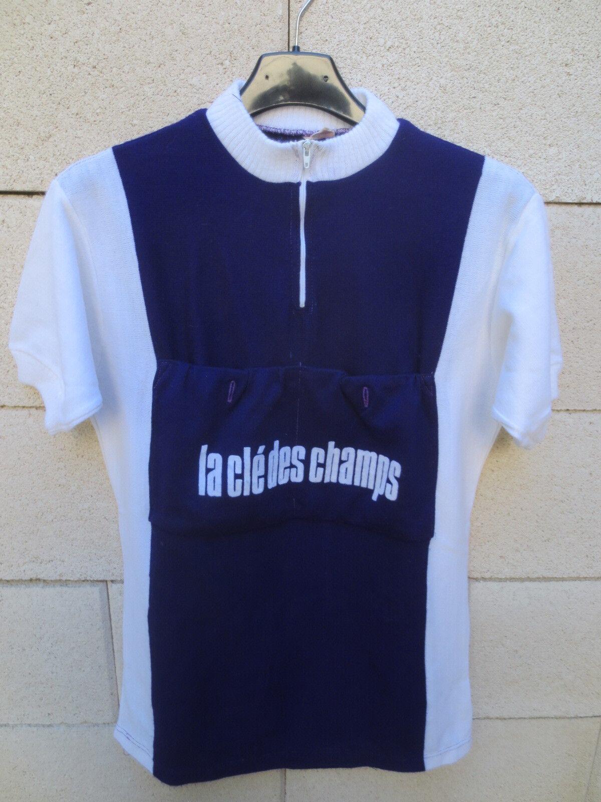 VINTAGE Maillot cycliste LA CLE DES CHAMPS St AFRIQUE cycling shirt jersey 70's