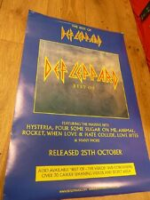 """DEF LEPPARD THE BEST OF RARE ALBUM PROMO POSTER 30 """"X 20""""  WITH FREE UK POSTAGE"""