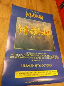 DEF-LEPPARD-THE-BEST-OF-RARE-ALBUM-PROMO-POSTER-30-034-X-20-034-WITH-FREE-UK-POSTAGE