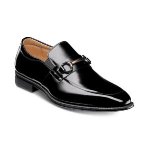 Stacy Adams Pierce Bit-Trimmed Slip-On Shoes Black