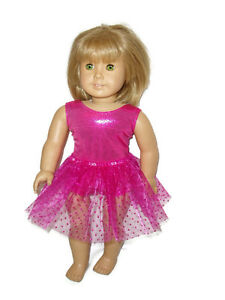 Hot-Pink-Leotard-Hot-Pink-Tutu-fits-American-Girl-18-034-Doll-Clothes-Ballet-Dance
