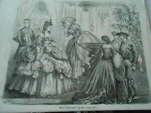 Pratique Gravure 1859 - Modes Historiques époque De Louis Xv