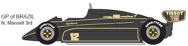 Studio 27 FK20273 120 Lotus 91 Brasil 2018 kits de coche modelo kit de resina