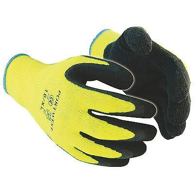 Various Sizes Portwest A340 Hi Vis Grip Work Gloves Long Cuff Grip 471