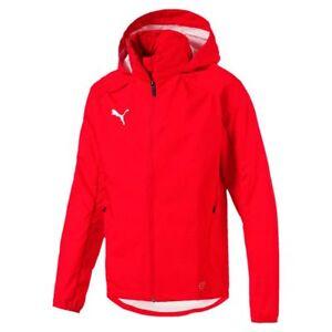 Puma-Fussball-Liga-Training-Regenjacke-Fussballjacke-Kinder-rot