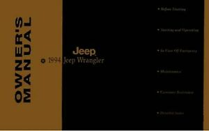 Bishko OEM Maintenance Owner's Manual Bound for Jeep Wrangler 1994