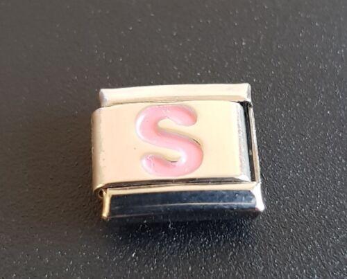 Letter S Alphabet Italian Bracelet Charms Link
