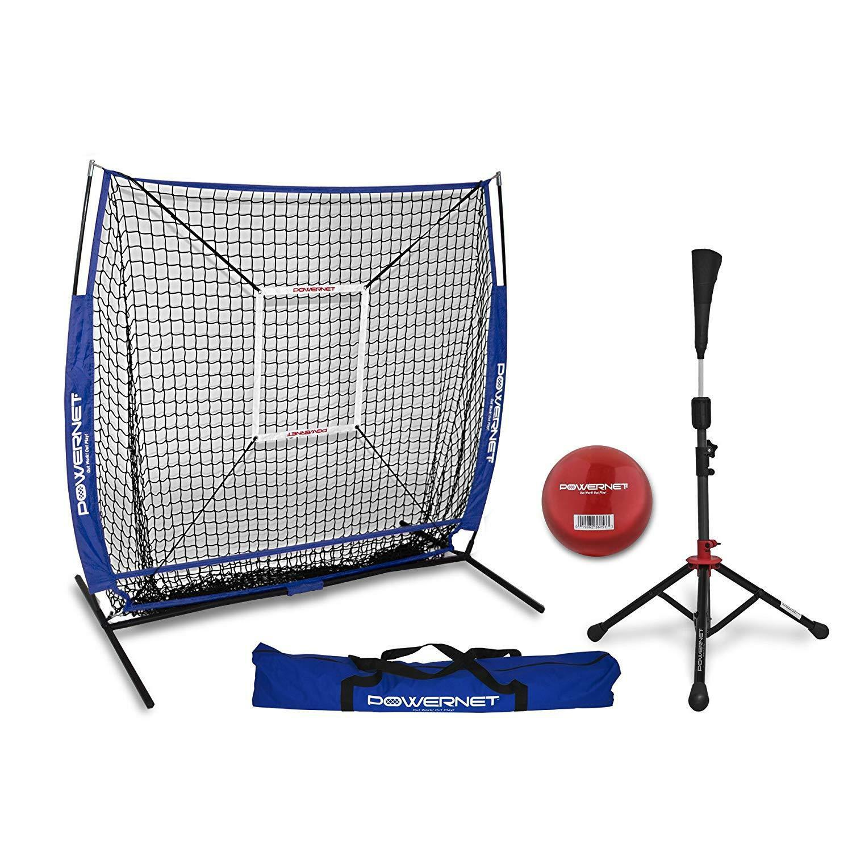 PowerNet 5x5 5x5 5x5 Practice Net + Tee + Strike Zone + Training Ball Team Farbes 836bf6