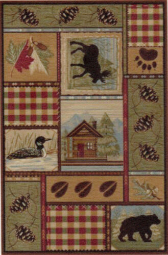 """0002029 1:24 or 1//2/"""" Scale Dollhouse Miniature Area Rug approx 3-3//4/"""" x 5-3//4/"""""""