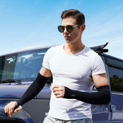 Women Men UV Protection Cooling Arm Sleeves Compression Sunscreen Long r