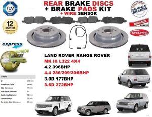 Land Rover Range Rover MK3 3.0 TD6 4x4 Genuine Delphi Rear Handbrake Brake Shoes Brakes & Brake Parts Vehicle Parts & Accessories