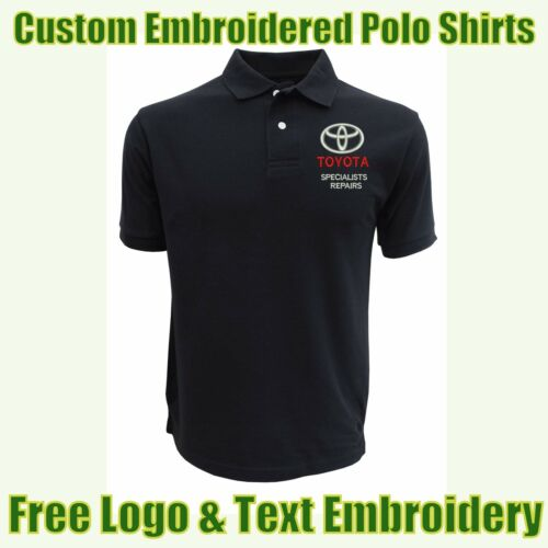 NEW Custom Embroidered Polo Shirt With Logo Garage /& Technicians Names Work Wear