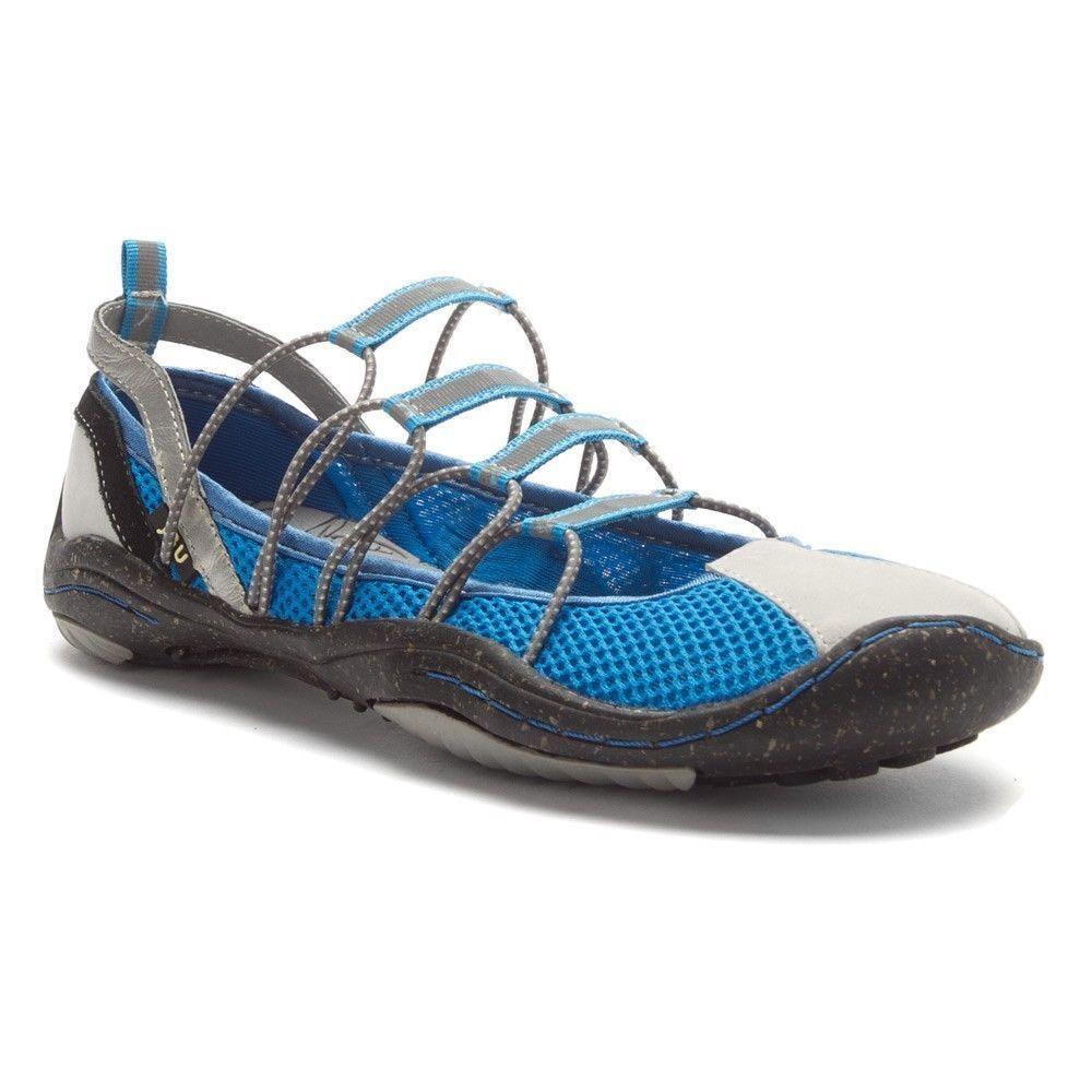 Jambu Water Trail Hike Barefoot Sneakrs, bluee Mesh Bungee  SIZE 7.5         E329