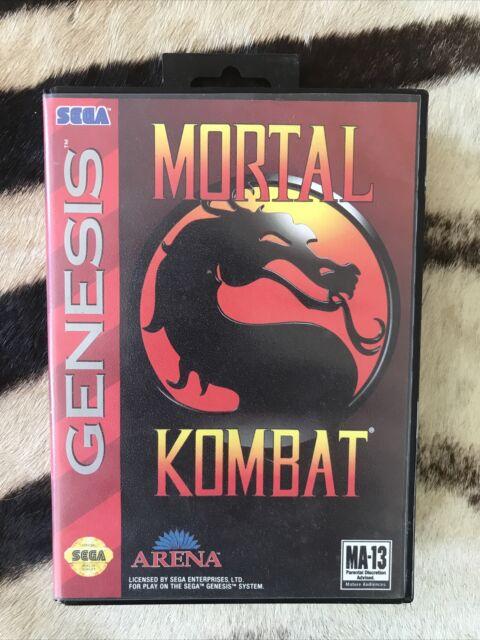 Mortal Kombat MK1 (Sega Genesis, 1993) Complete - Authentic - Tested Free Ship