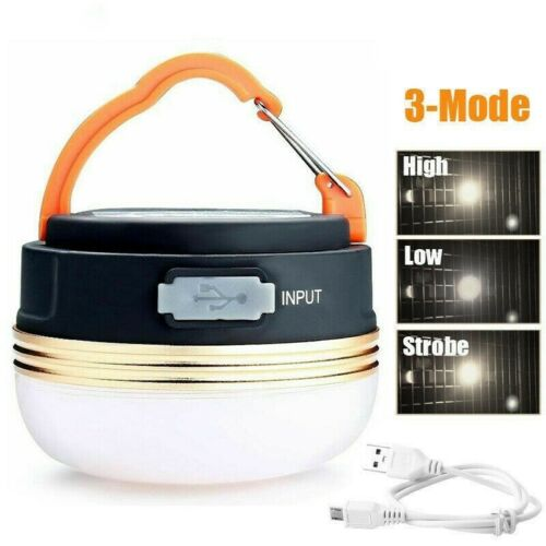 2PCS Bright Camping Light Night Lamp USB Rechargeable LED Tent Lantern Outdoor