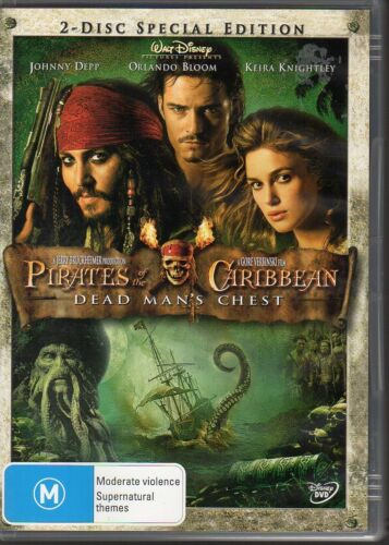 1 of 1 - PIRATES OF THE CARIBBEAN DEAD MAN'S CHEST - DVD R4 (2006)  2-disc set VG