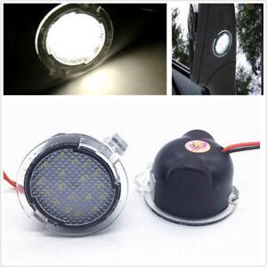 2X White LED Side Mirror Puddle Lights 12V For Ford Edge Mondeo Explorer Taubus