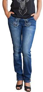 marjo jeans classic damen blau trachtenhose hose trachten trachtenjeans ebay. Black Bedroom Furniture Sets. Home Design Ideas