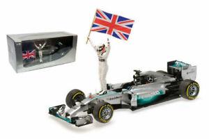 Mercedes W05 L. Hamilton winner Abu Dhabi Champion 2014 -1:18 Minichamps