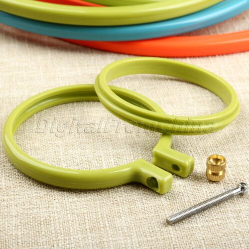 Plastic Frame Embroidery Hoop Ring Round For Cross Stitch 3-10 inch DIY Hand