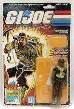 "1985 Hasbro 3 3/4"" GI Joe ALPINE MOUNTAIN TROOPER Action Figure USA army Backing"