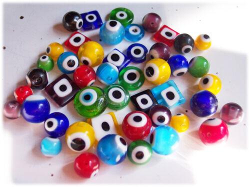 20 Glasaugenperlen handmade 8-12 mm verschiedene Farben Perlen basteln kaufen