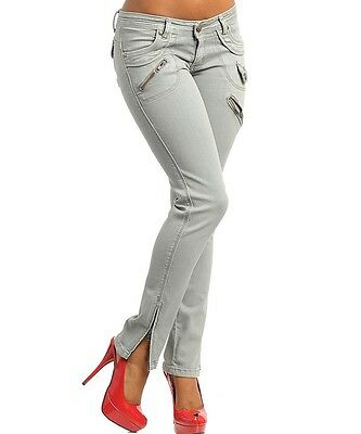 Chose a Size -0 1 3 5 7 9 11 13-Gray Stratchy,Cotton,Low Rise,Skinny,Cargo Pants