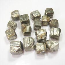100g About 3-5 Pcs Iron Pyrite Cubes Raw Material Natural Stone Specimen Golden