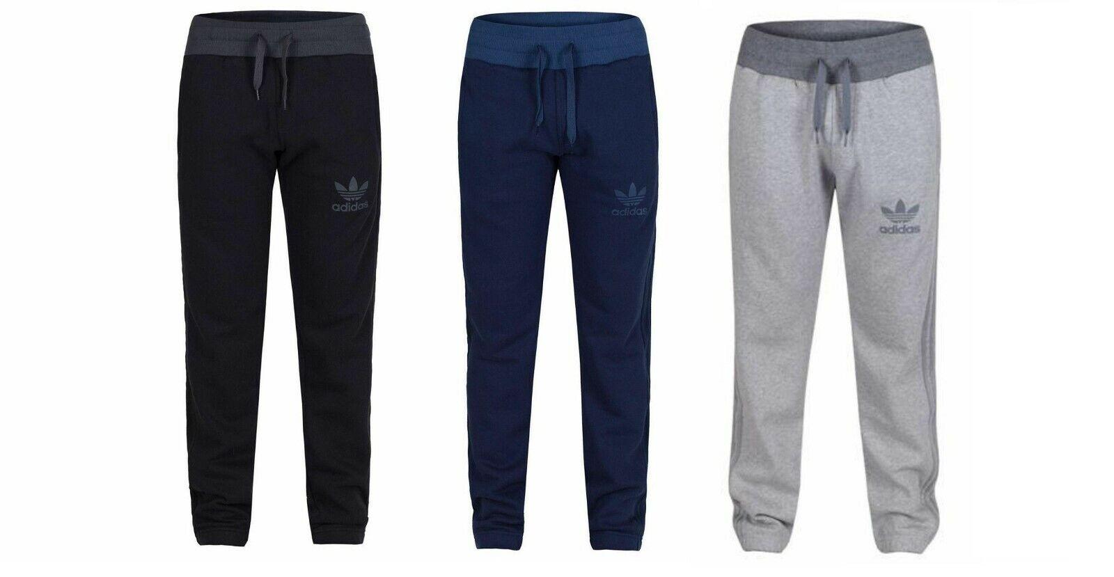 Adidas Mens SPO Sweat Pants  Navy Trefoil Logo Joggers  Navy AB7580