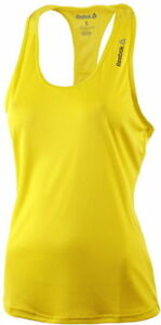 New-Reebok-Workout-Vest-Tank-Top-Yellow-Ladies-Womens-Gym-Training-Fitness