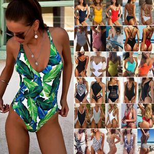 40c7178f72 Women's One Piece Monokini Push Up Padded Bikini Swimsuit Swimwear ...