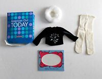 American Girl Doll Winter Magic Outfit Not Complete Only Top Collar & Tights