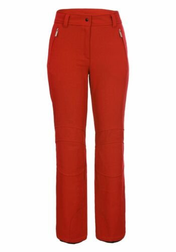 Damen Jethose Softshell Skihose ICEPEAK OUTI in rot auch Kurzgrößen