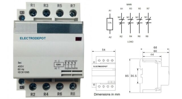 4 Pole Contactor Diagram Wiring All Datarh2016feuerwehrrandeggde: 4 Pole Contactor Wiring Diagram At Gmaili.net