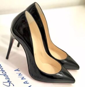quality design 6f97e 38786 Details about Christian Louboutin Pigalle Follies 100 Black Patent Leather  Pump 35,5 NIB
