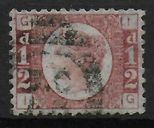 SG48-1-2d-Rose-Red-Plate-19-VFU-amp-Well-Centred-With-Full-Perfs-C-55-Ref-0655