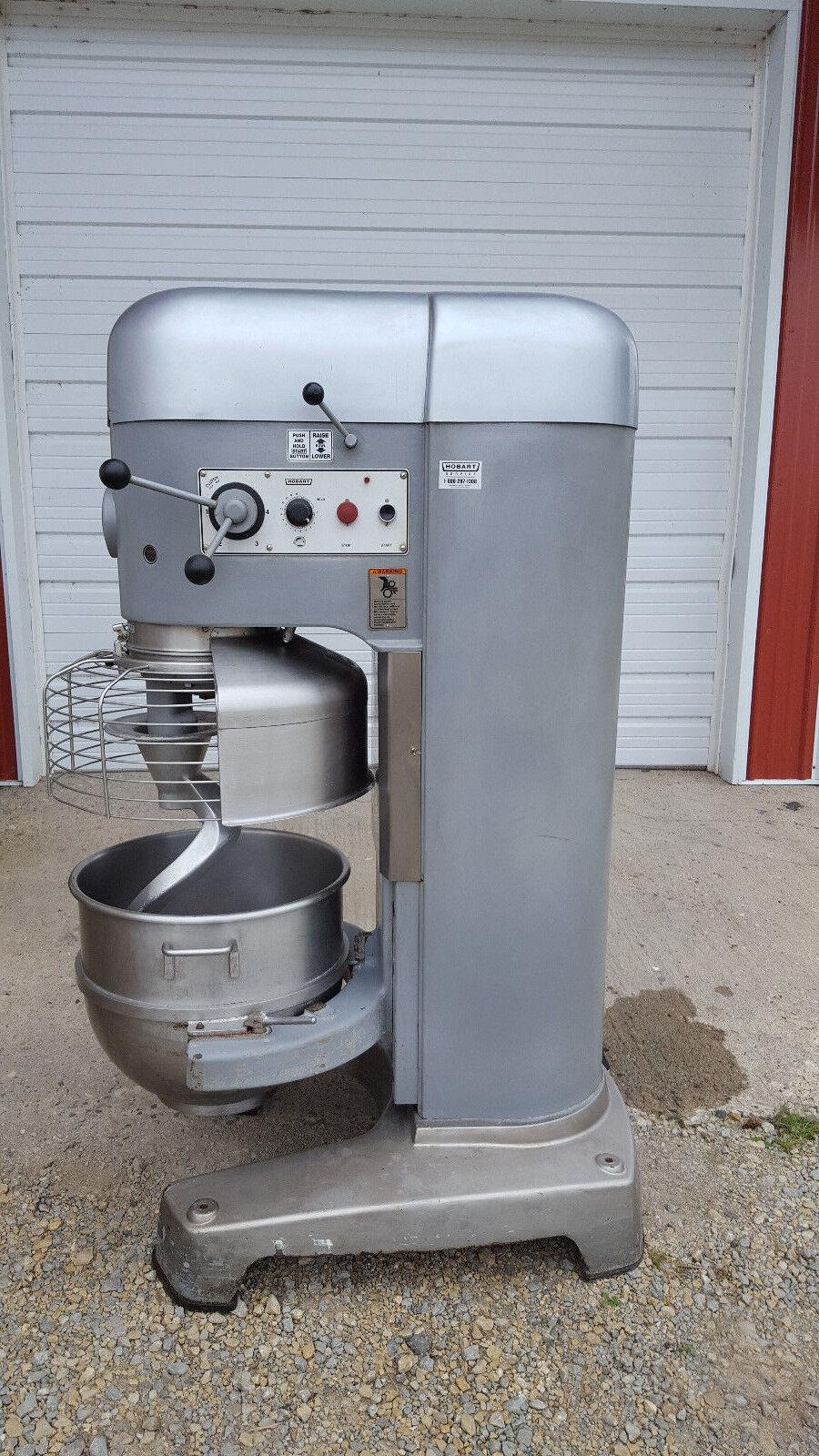 Hobart M802 80 QT Dough Mixer Cage Hook Bowl Tested 220v   eBay