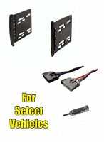 Double Din Stereo Radio Install Mount Dash Trim Car Kit Combo For Some Focus Etc