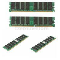 Memoria RAM 4GB (4x 1GB) 3200U DDR1 400Mhz 184pin PC3200 DESKTOP PC DIMM NON-ECC