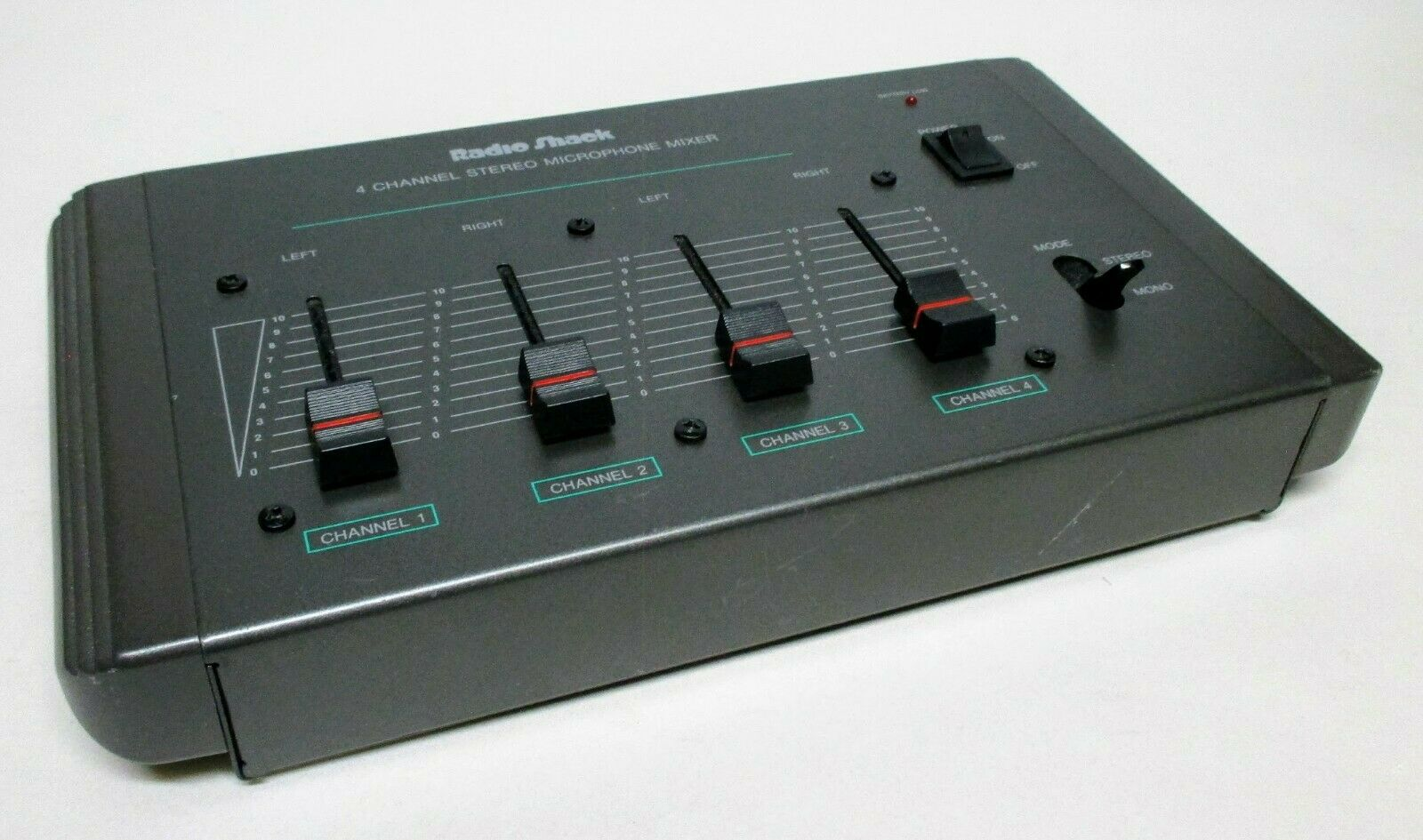 Radio Shack 4-Channel Microphone Mixer, Cat. No. 32-1106. Excellent condition. Buy it now for 60.00