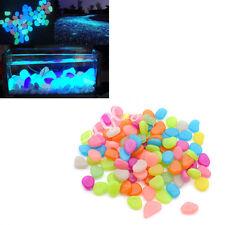 Neu 20x Kiesel Leuchtsteine Bunt Nachtleucht Natürlich Dekoration Aquarium Fisch