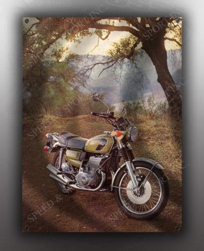 VINTAGE SUZUKI GT-550 MOTORCYCLE BANNER