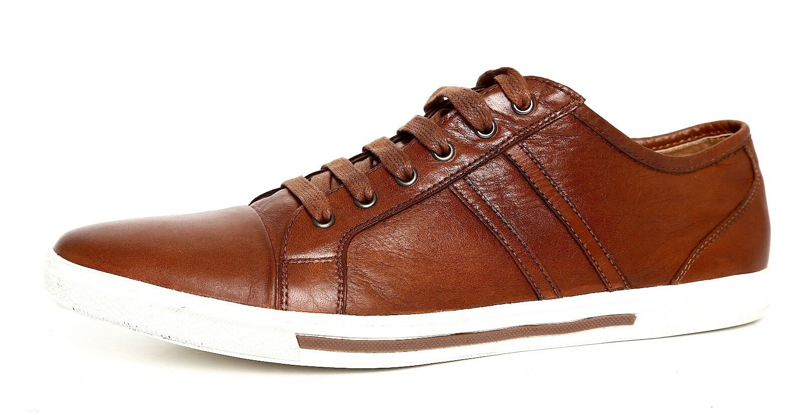 Kenneth Cole New York Get Down 2 It Leather Sneaker Brown Men Sz 10 M 4136