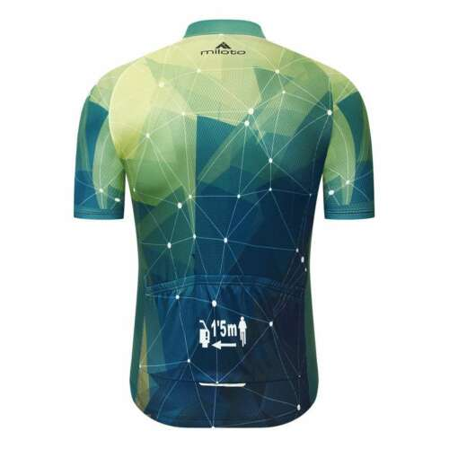 Miloto Men/'s Short Sleeve Cycling Jersey Full Zip Bike Bicycle Shirt Reflective