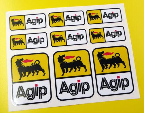 AGIP Motorbike Motorcycle HELMET Decals Stickers Fairing Toolbox Forks