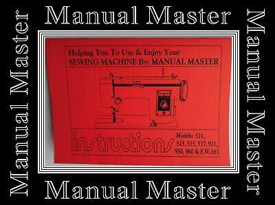 Máquina De Coser Janome Nuevo Hogar 521,525,535,537,921,950,960,FW161 instrucciones