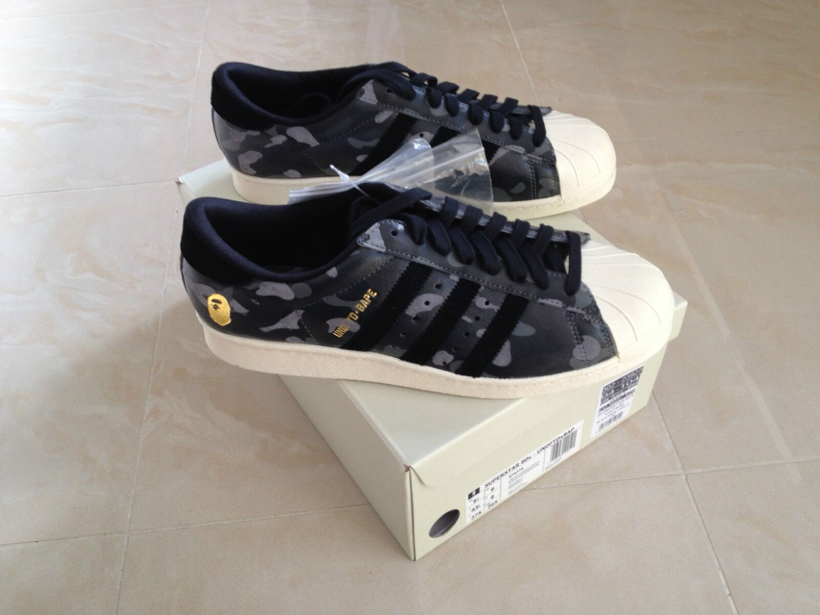 ADIDAS CONSORTIUM X UNDFTD X BAPE BAPE BAPE SUPERSTAR 80V BLACK CAMO ALL SIZES 5-11 NEW 6ebf35