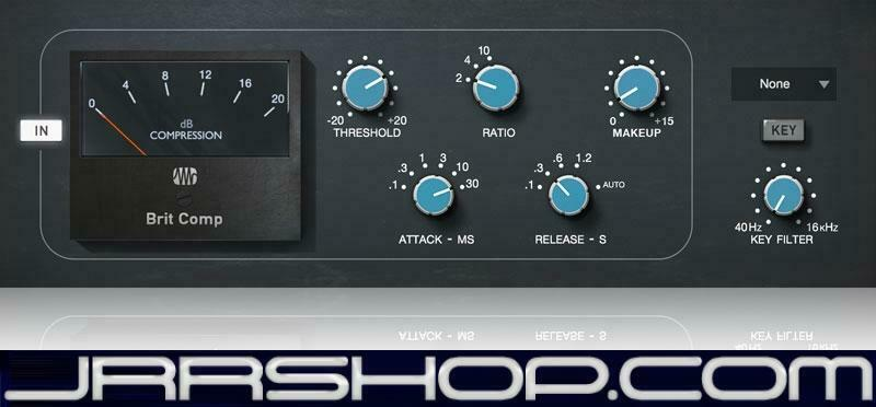 Presonus StudioLive Brit Comp Plugin eDelivery JRR Shop