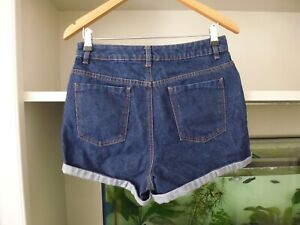 ASOS-DARK-BLUE-DENIM-SHORTS-SIZE-10