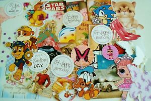ASSORTED-CARD-MAKING-TOPPERS-PAPER-DIE-CUTS-Joblot-Clearout-Crafts-Embellishment